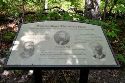 Marker #6 - Worries About The Home Front image. Click for full size.