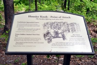 Marker #9 - Hoosier Knob - Point of Attack image. Click for full size.