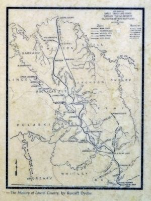Early Trails and Roads Through the Wilderness of Southeastern Kentucky image. Click for full size.