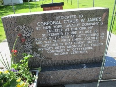 Corporal Cyrus W. James Memorial image. Click for full size.