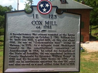 Cox Mill Marker image. Click for full size.