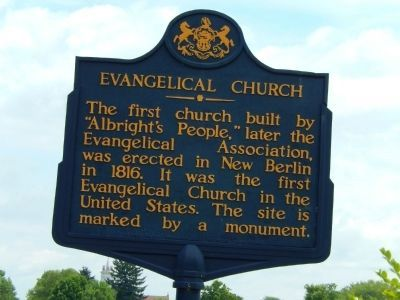 Evangelical Church Marker image. Click for full size.