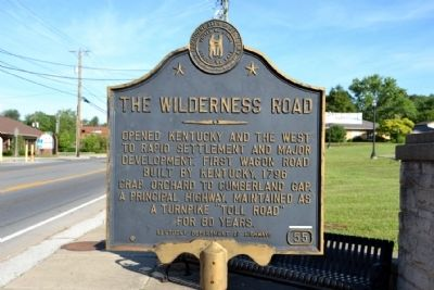 The Wilderness Road Marker image. Click for full size.