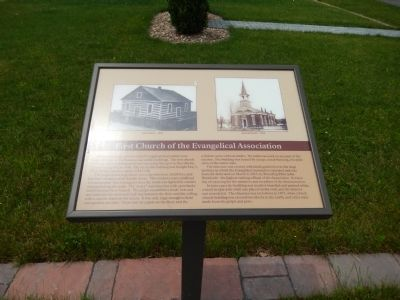 First Church of the Evangelical Association Marker image. Click for full size.