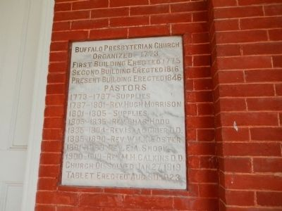 Buffalo Presbyterian Church Marker image. Click for full size.