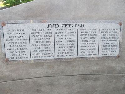 First Inscription of Names, Front, Farthest Left image. Click for full size.