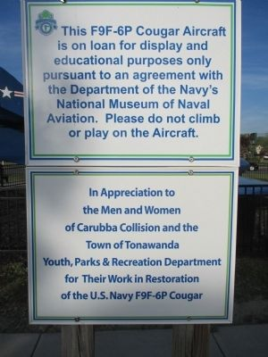 Cougar Aircraft Sign image. Click for full size.