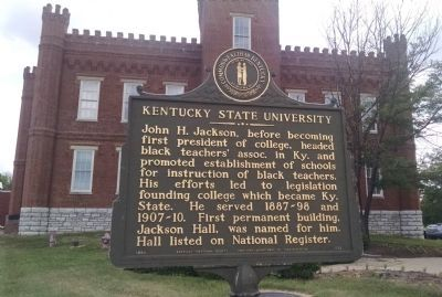 Kentucky State University Marker [reverse] image. Click for full size.