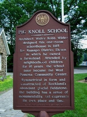 Pig Knoll School Marker image. Click for full size.