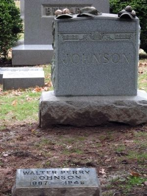Walter Johnson&#39;s Grave<br>Rockville Cemetery image. Click for full size.