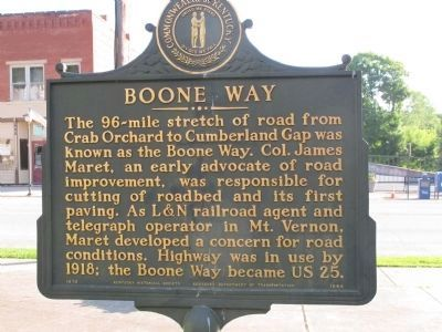 Boone Way Marker image. Click for full size.