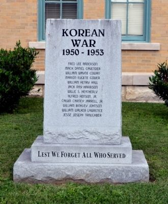 Robertson County Korean War Memorial image. Click for full size.