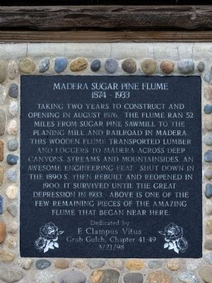 Madera Sugar Pine Flume Marker image. Click for full size.