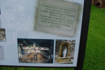 Our Lady of Lourdes Grotto Marker Photo insets image. Click for full size.