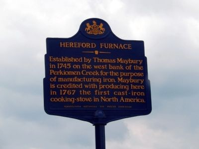 Hereford Furnace Marker image. Click for full size.