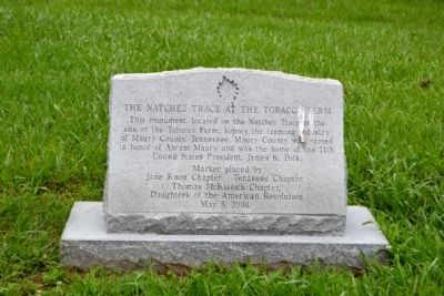 The Natchez Trace at the Tobacco Farm Marker image. Click for full size.