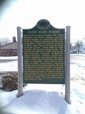 Saint Mary Parish Marker - side 2 image. Click for full size.