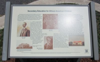 Secondary Education for African American Children Marker image. Click for full size.