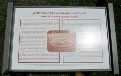 Spotsylvania's First African American Church Marker image. Click for full size.