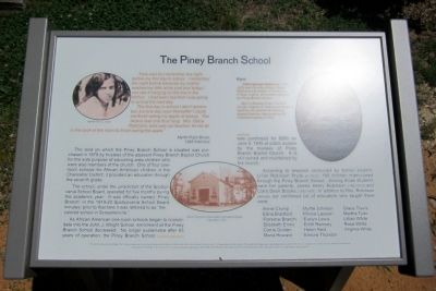 The Piney Branch School Marker image. Click for full size.