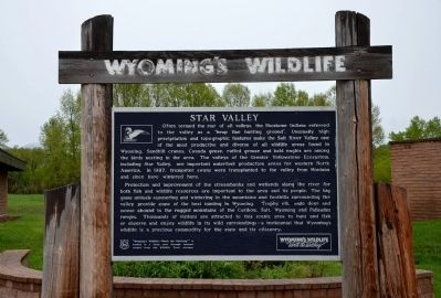 Wyoming's Wildlife Marker image. Click for full size.