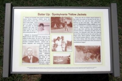 Batter Up: Spotsylvania Yellow Jackets Marker image. Click for full size.