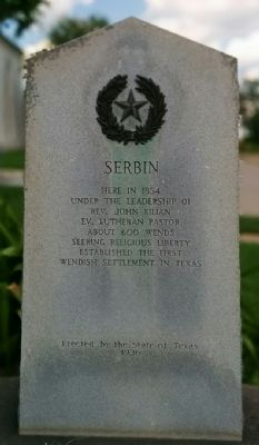 Serbin Marker image. Click for full size.