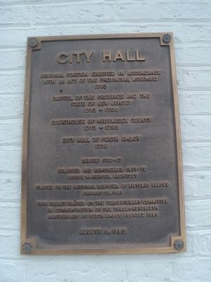 City Hall Marker image. Click for full size.