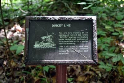 Dinkey Line Sign on Trail image. Click for full size.