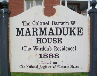 Missouri State Penitentiary Warden's House Marker image. Click for full size.