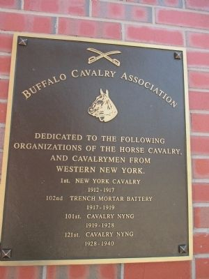 Buffalo Cavalry Association Memorial image. Click for full size.