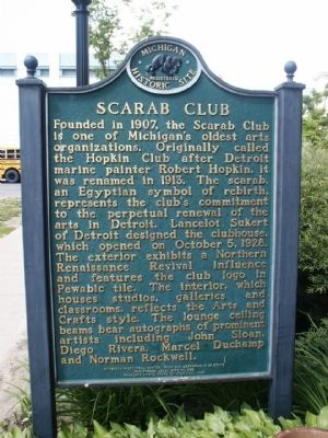 Scarab Club Marker image. Click for full size.