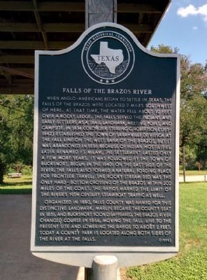 Falls of the Brazos Marker image. Click for full size.