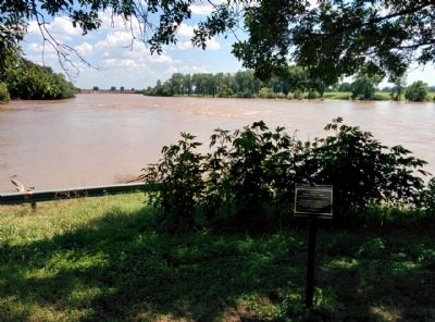 Brazos River seen from Falls of the Brazos Park image. Click for full size.