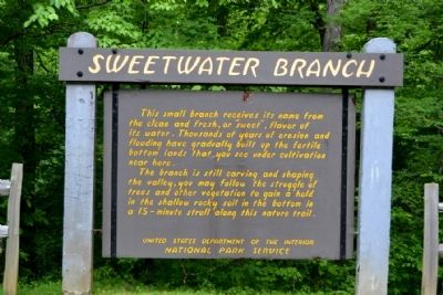 Sweetwater Branch Marker image. Click for full size.