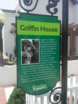Griffin House Marker image. Click for full size.