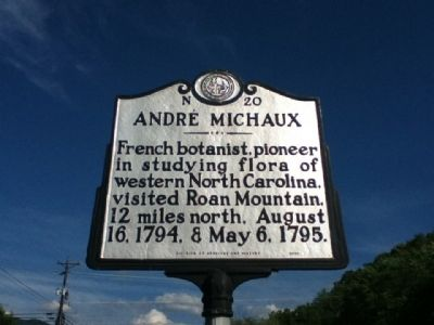 Andre Michaux Marker image. Click for full size.