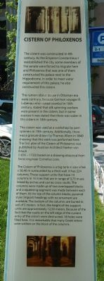 Cistern of Philoxenos Marker image. Click for full size.