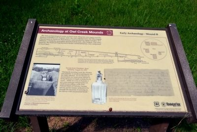 Archaeology at Owl Creek Mounds Marker image. Click for full size.