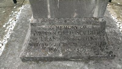 Close Up of Inscription on North Face Base image. Click for full size.