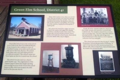 Green Elm School, District 41 Marker image. Click for full size.
