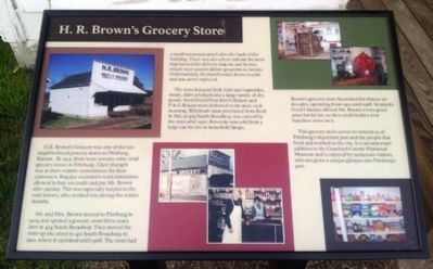 H. R. Brown's Grocery Store Marker image. Click for full size.