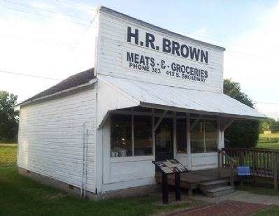 H. R. Brown's Grocery Store and Marker image. Click for full size.