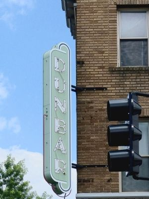 Dunbar Theater Sign image. Click for full size.