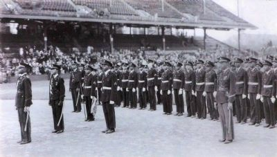 """Colored"" Cadets Stand in Formation image. Click for full size."
