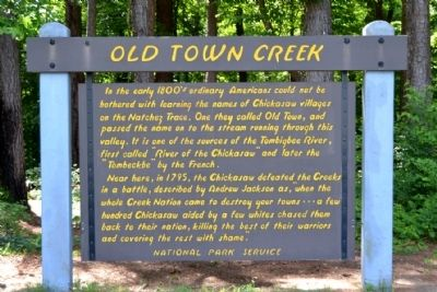 Old Town Creek Marker image. Click for full size.