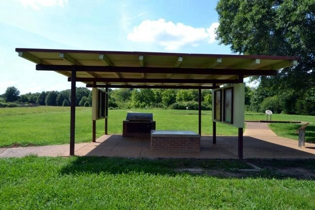 Marker Exhibit Kiosk for Chickasaw Village Site image. Click for full size.