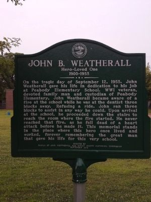 John B. Weatherall Marker image. Click for full size.