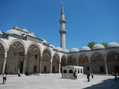 Suleymaniye Mosque and Social Complex, Courtyard image. Click for full size.