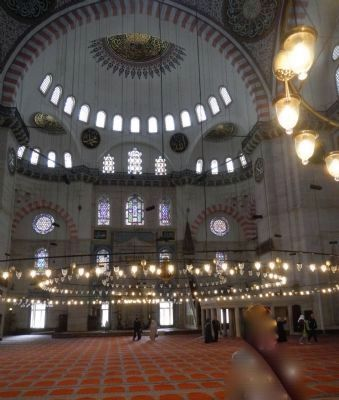 Suleymaniye Mosque and Social Complex, Interior of the Mosque image. Click for full size.